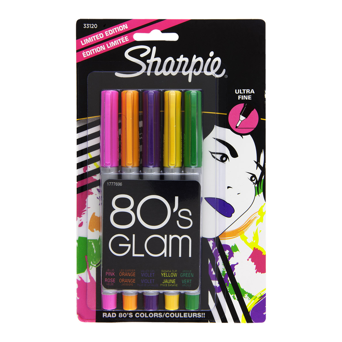 sharpie permanent marker ultra fine point 5 set 80 s glam markers n pens. Black Bedroom Furniture Sets. Home Design Ideas